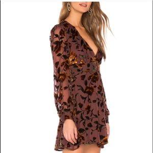 Lulus Vivian Plum Purple Burnout Velvet Dress